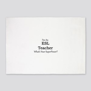 ESL Teacher 5'x7'Area Rug