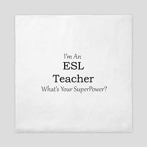 ESL Teacher Queen Duvet