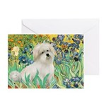 Irises / Coton Greeting Card