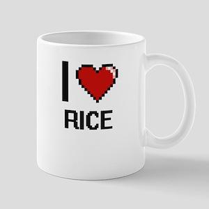 I Love Rice Digital Design Mugs