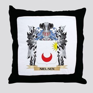 Nielsen Coat of Arms - Family Crest Throw Pillow