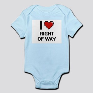 I Love Right Of Way Digital Design Body Suit