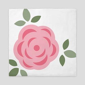 Pink Flower Queen Duvet