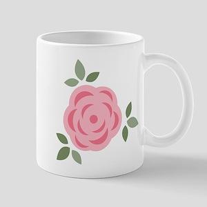 Pink Flower Mugs