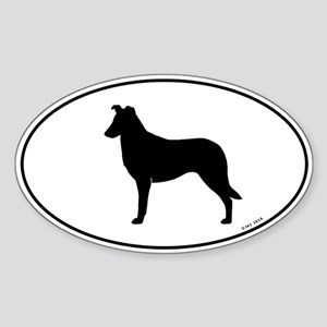 Smooth Collie Sticker (Oval)