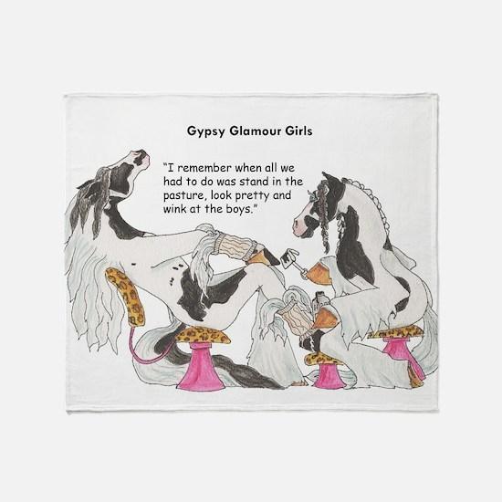 Gypsy Glamour Girls Shows Throw Blanket