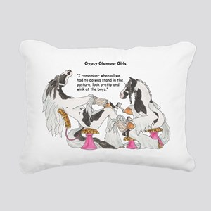 Gypsy Glamour Girls Show Rectangular Canvas Pillow