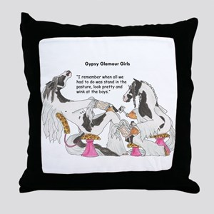 Gypsy Glamour Girls Shows Throw Pillow