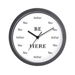 Be Here Now Time Wall Clock