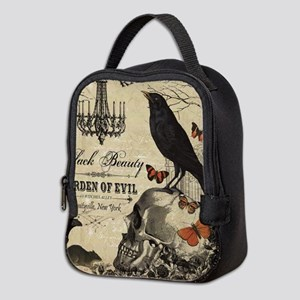 Modern vintage Halloween Neoprene Lunch Bag
