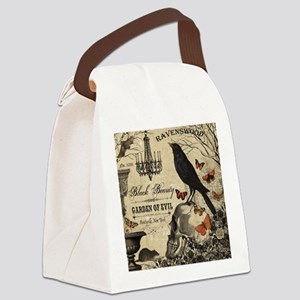 Modern vintage Halloween Canvas Lunch Bag