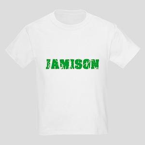 Jamison Name Weathered Green Design T-Shirt