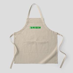 Jamison Name Weathered Green Design Light Apron