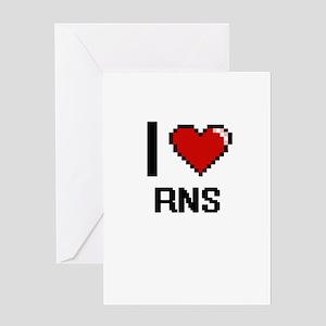 I Love Rns Digital Design Greeting Cards