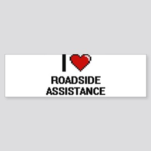 I Love Roadside Assistance Digital Bumper Sticker