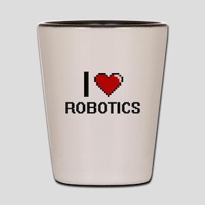 I Love Robotics Digital Design Shot Glass