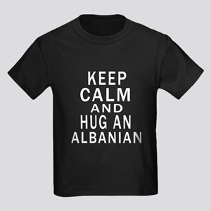 Keep Calm And Albanian Designs Kids Dark T-Shirt