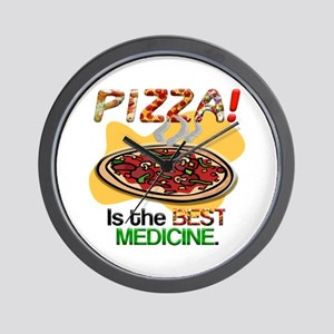 Pizza is the best medicine. Wall Clock