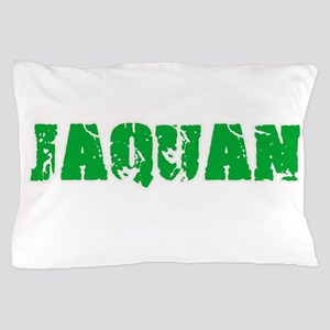 Jaquan Name Weathered Green Design Pillow Case