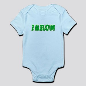 Jaron Name Weathered Green Design Body Suit