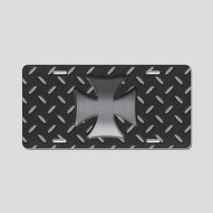 Maltese Grid II Aluminum License Plate