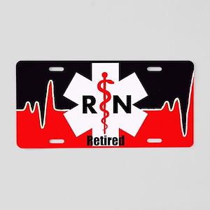 Retired Nurse Aluminum License Plate