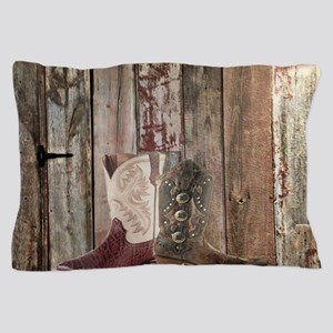 vintage western country cowboy Pillow Case