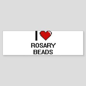 I Love Rosary Beads Digital Design Bumper Sticker