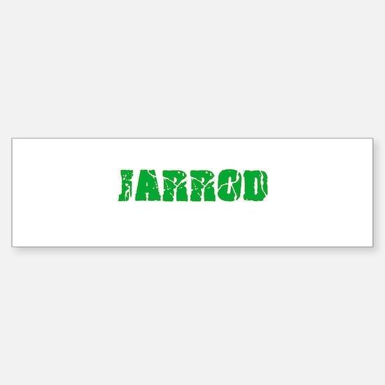 Jarrod Name Weathered Green Design Bumper Bumper Bumper Sticker