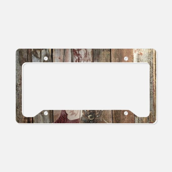 vintage western country cowbo License Plate Holder