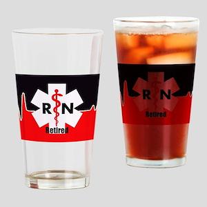 Retired Nurse Drinking Glass