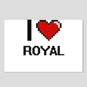 I Love Royal Digital Desi Postcards (Package of 8)