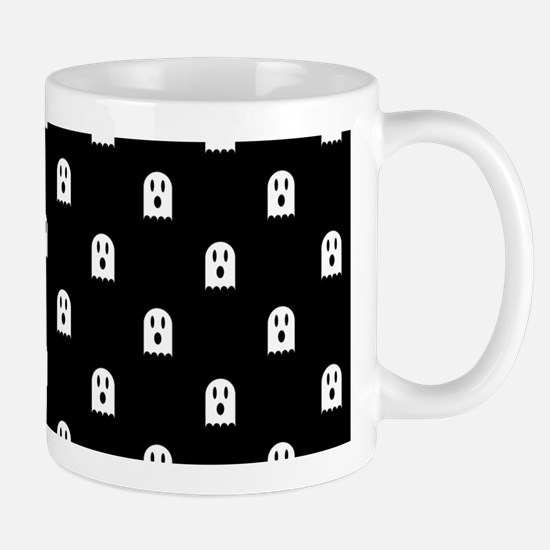 Scary Halloween Ghost Polka Dot Pattern Mug