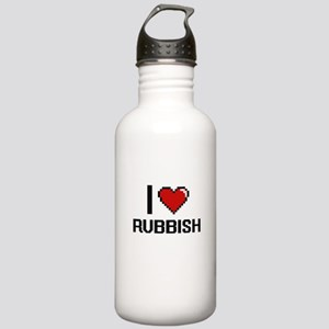 I Love Rubbish Digital Stainless Water Bottle 1.0L