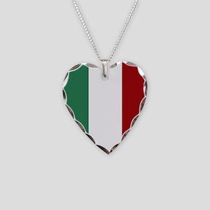 Italian Flag Necklace Heart Charm