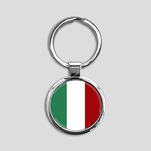 Italian Flag Round Keychain