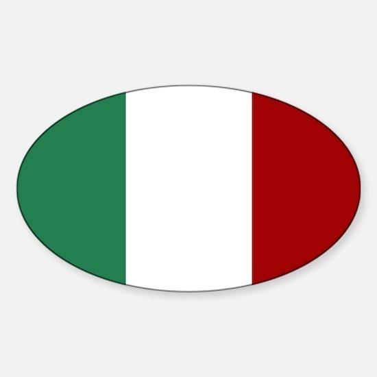 Italian Flag Sticker (Oval)