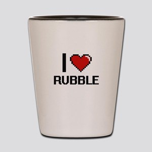 I Love Rubble Digital Design Shot Glass