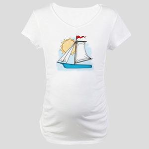 Summer Sailboat Maternity T-Shirt