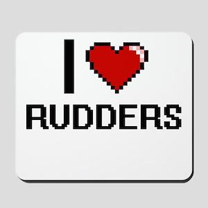 I Love Rudders Digital Design Mousepad