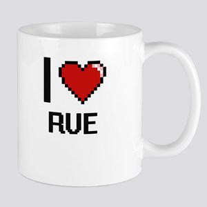 I Love Rue Digital Design Mugs