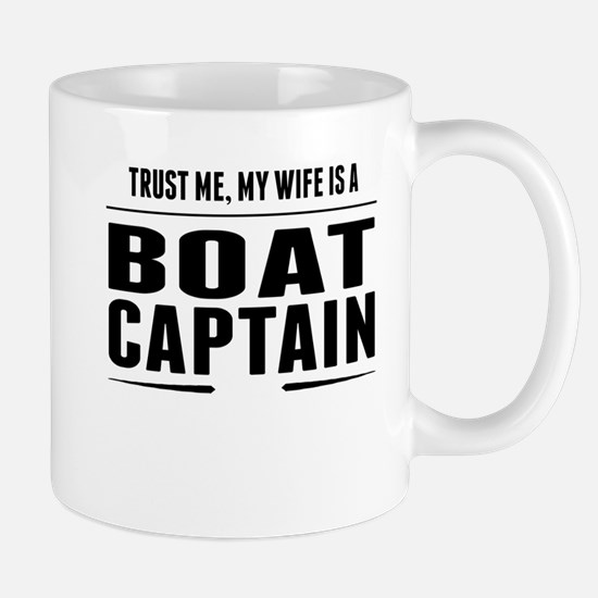 My Wife Is A Boat Captain Mugs