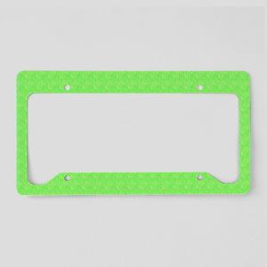 Plain lime Green License Plate Holder