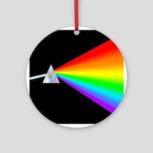 Rainbow Prism Round Ornament