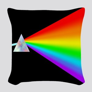 Rainbow Prism Woven Throw Pillow