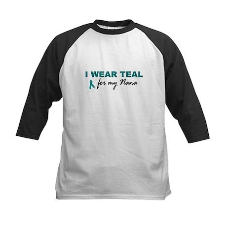 I Wear Teal For My Nana 2 Kids Baseball Jersey
