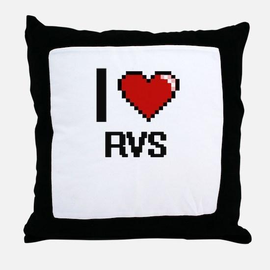 I Love Rvs Digital Design Throw Pillow