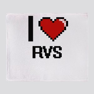 I Love Rvs Digital Design Throw Blanket