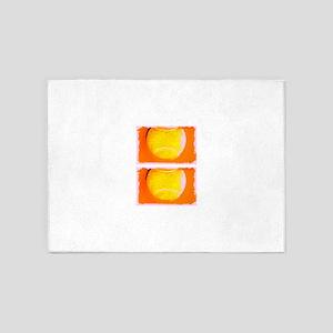 Tennis Balls Orange Iain's Fave 5'x7'Area Rug