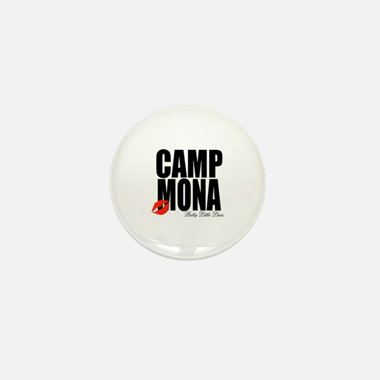 Camp Mona Kiss Mini Button